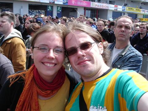 Tina und Michael bei Stonesour